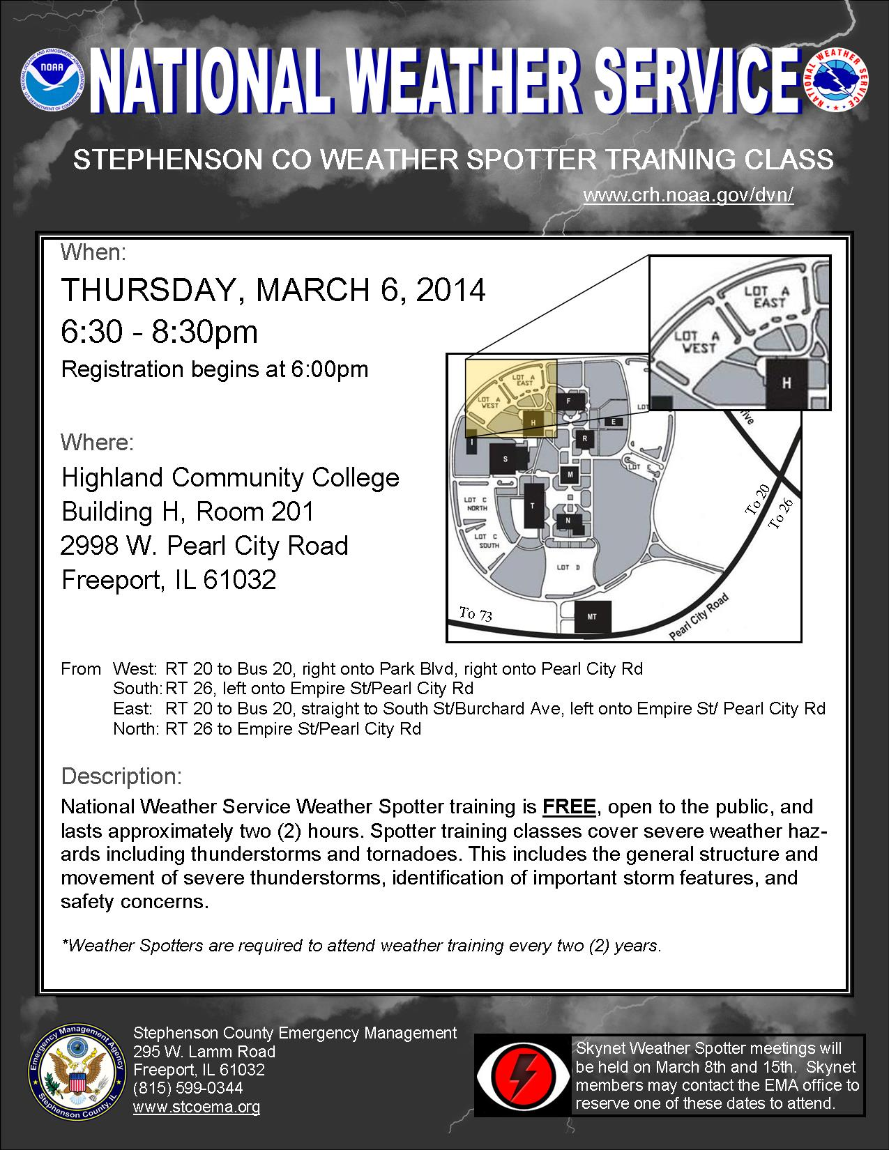 NWS Spotter Training Flyer 1-9-14